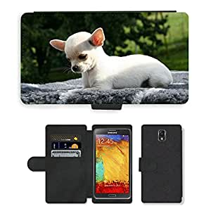 PU LEATHER case coque housse smartphone Flip bag Cover protection // M00111694 Animal Perro Chihuahua Chihuahua Puppy // Samsung Galaxy Note 3 III N9000 N9002 N9005