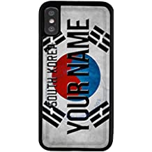 BleuReign(TM) Personalized Custom Name License South Korea Country Flag Plate TPU RUBBER SILICONE Phone Case Back Cover For Apple iPhone X Ten