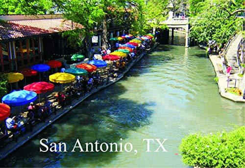 San Antonio River Walk, Restaurants, Texas, City, TX, Souvenir Magnet 2 x 3 Photo Fridge Magnet