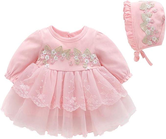 Allence Baby Madchen Prinzessin Kleid Blumenmadchenkleid Taufkleid Festlich Kleid Hochzeit Partykleid Festzug Babybekleidung Hut Amazon De Bekleidung