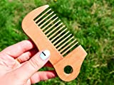 5'' Wooden Brush for Men - Groomsman Gift - Pocket Size Comb - Hairbrush - WoodenWorldUA - Wooden Comb - Wood Hair Brush - Handmade Comb - Pocket Wooden Bomb - Hair Care Comb - Wave Shape Beard Comb