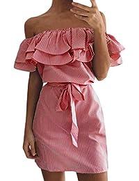 Women Holiday Strapped Button Pocket Denim Dress Summer Beach Midi Swing Dress