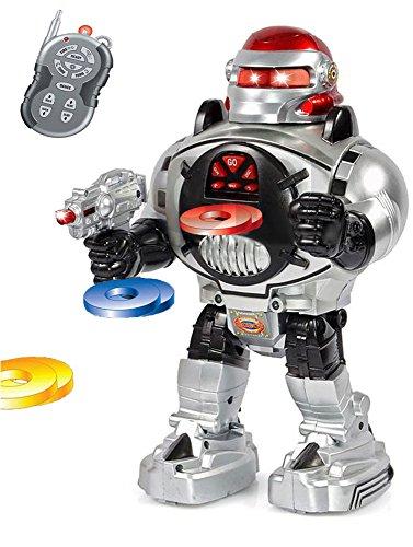 image GBL® Robot Jouet Enfant Telecommandé lance des disques, Danse, Parle - Un Robot Jouet Radio Commandé - RC super zabavan ...