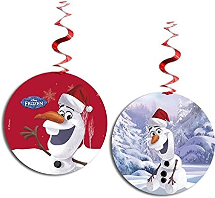 unique party hanging swirl disney frozen olaf christmas decorations pack of 3