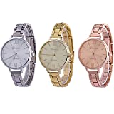 CdyBox Women Ladies Girls Analog Watches Wholesale Assorted Dress Wristwatches Gift Sets (3 Pack)