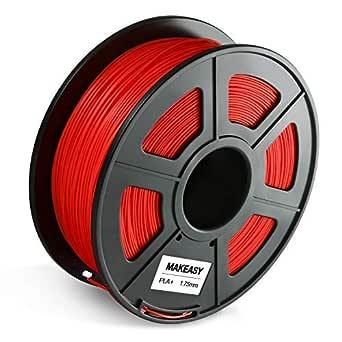 Filamento PLA, MAKEASY PLA filamento 1.75mm 1KG rollo en envasado ...