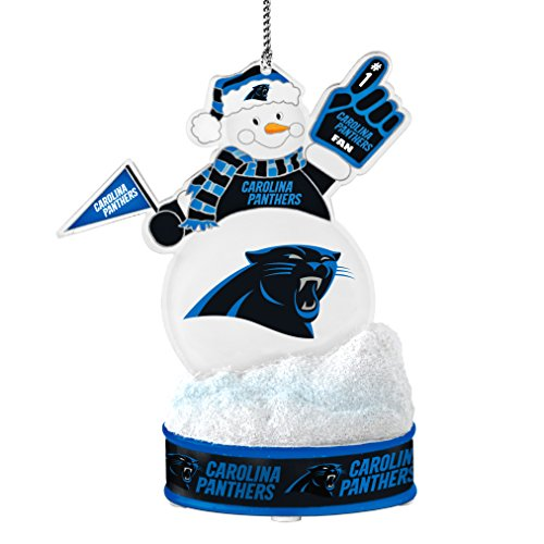 Santa Panthers Hat (NFL Carolina Panthers LED Snowman Ornament)
