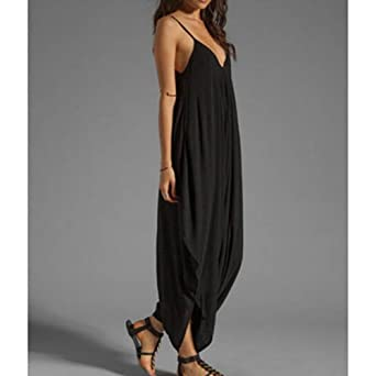 c909b0c7ee5 Scothen Women s Sexy Deep V Neck Short Sleeves Wide Leg Black Jumpsuit  Jumpsuits Cuffs Women s Spring Summer Elegant Jumpsuit Play Suit Overall  Party ...