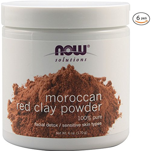 Now Foods Red Clay Powder Moroccan - 6 oz. 6 Pack Clay Powder Now Foods