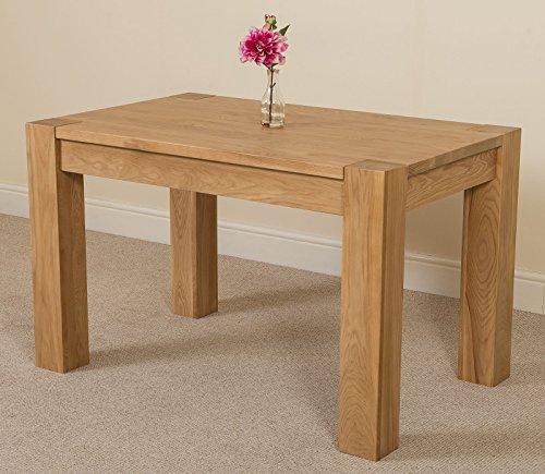 Chunky dining table amazon kuba chunky solid oak 125 x 80 x 77 cm dining room kitchen table watchthetrailerfo