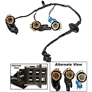 apdty 034126 tail lamp light wiring harness bulb connector fits rear left  or right on 2000-2002 chevrolet express or gmc savana 1500 2500 3500 van  (replaces