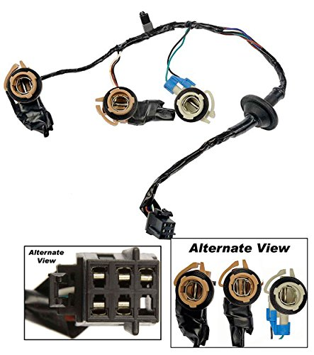 APDTY 034126 Tail Lamp Light Wiring Harness Bulb Connector Fits Rear Left or Right On 2000-2002 Chevrolet Express or GMC Savana 1500 2500 3500 Van (Replaces 16530144) (Tail Light Wiring Harness)