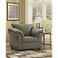 Darcy Collection 7500320 46 Chair with Fabric Upholstery Plush Padded Arms Tapered Block Feet and Contemporary Style in Sage