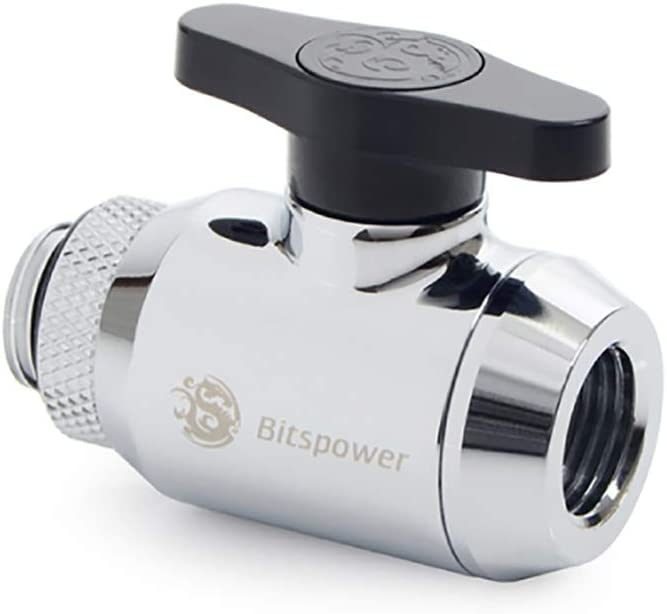 "Bitspower Mini Valve with Rotary G1/4"" Extender and Inner G1/4"" Port, True Golden"