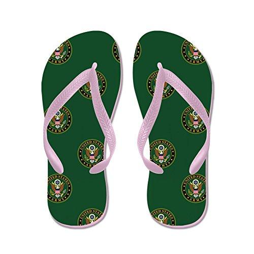 Cafepress Oss Armé: Armé Symbol (grön) - Flip Flops, Roliga Rem Sandaler, Strand Sandaler Rosa