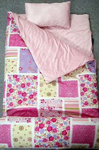 SoHo kids Classic children sleeping slumber bag with pillow and carrying case lightweight foldable for sleep over (Bella's (Personalized Sleeping Bags For Kids)