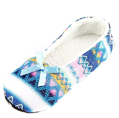 Blue Slippers Fashion Leisureland Cozy Women's IUB0Wnqpa