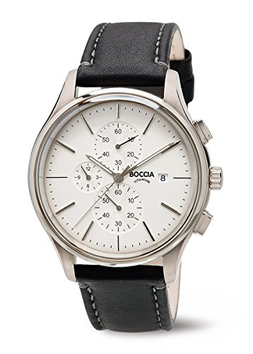 3756-01 Boccia Titanium Mens Chronograph Watch