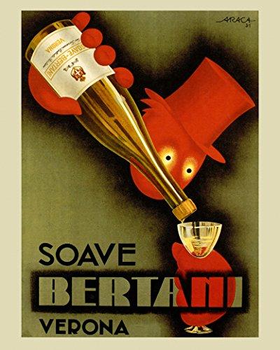 Liquor Art Poster (Bar Liquor Bertani Verona Waiter Italy Italia Italian Drink 11