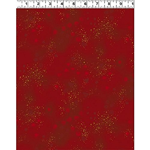 Clothworks Flannel - Wild Ones Flannel by Laurel Burch from Clothworks 100% Cotton Quilt Flannel Fabric Y2332-4 Red glitter - By the yard