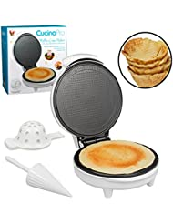 Waffle Cone and Bowl Maker- Homemade Ice Cream Wafflecones in Minutes - Includes Roller and Bowl Press- Great Mothers Day Gift