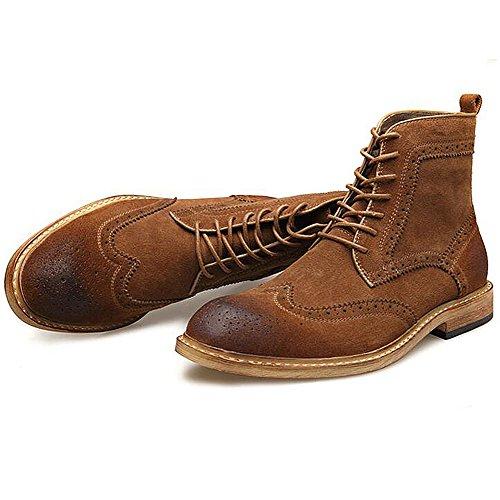 Herren freizeitschuhe kleid bergsteigen herbst outdoor [leise unten] stiefel rutschen schwarzbraun-A Fußlänge=38EU