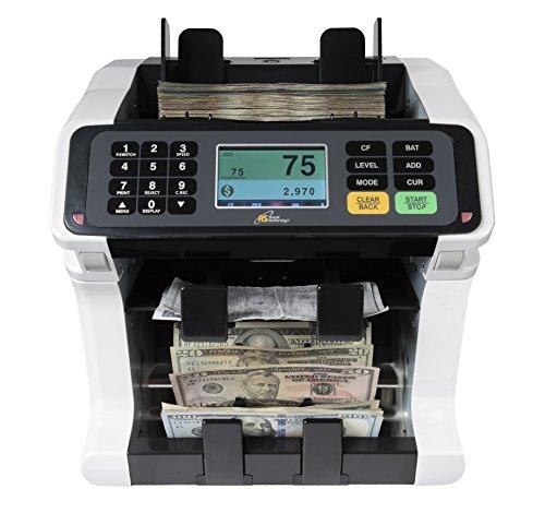 Royal Sovereign Bank Grade, dos bolsillos mezclados denominación (USD) discriminador, contador de billetes con detección de...