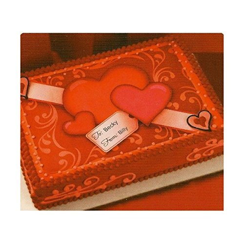 Valentine's Day Hearts To & From ~ Edible Cake Topper