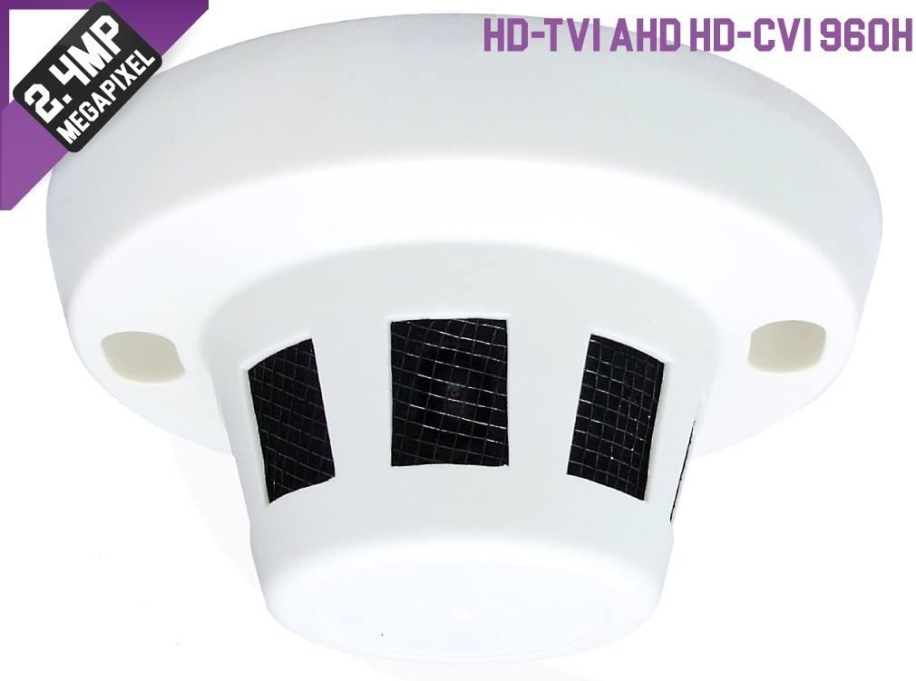 HD-TVI Spy Motion Detector Camera 2.4MP 1080p HD 3.7mm Nanny-Cam Security CCTV