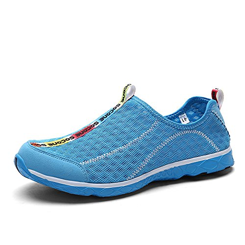 Women's Breathable Mesh Slip-On Quick Drying Water Shoes Wet Shoes Blue US Size 10