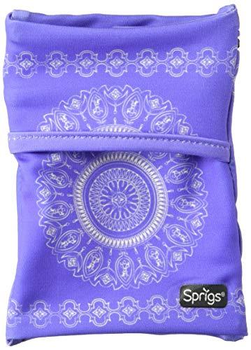Sprigs Unisex Banjees 2 Pocket Wrist Wallet for Travel, Running, Hiking, Purple Batik, One Size Fits Most (Wallet Banjee Wrist)