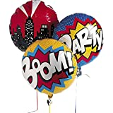 Fun Express Superhero Mylar Balloon Set Comic Party