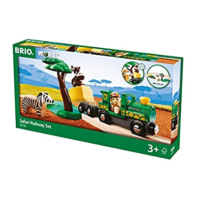 BRIO World - 33720 Safari Railway Set | 17 Piece Train Toy with Accessories and Wooden Tracks for Kids Ages 3 and Up: Toys & Games