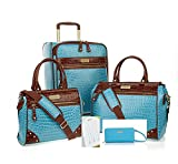 Samantha Brown Classic Weekender Luggage Set 21'' Upright, Dowel Bag Plus~Aqua