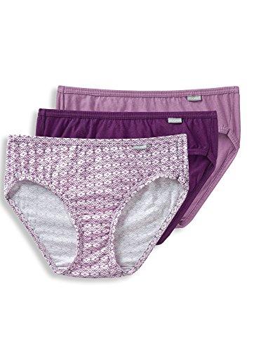 Jockey Women's Underwear Plus Size Elance Bikini - 3 Pack, Vintage Mauve/Dotted Tile/Absolute Plum, (Dotted Womens Bikini)