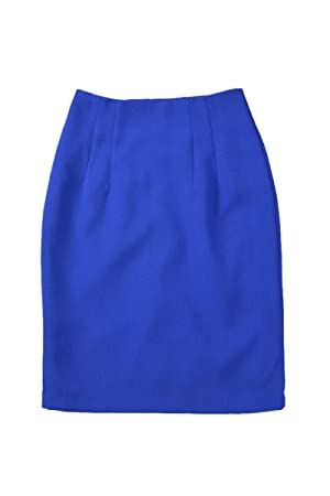 a97c84bd0 SODIAL(R) OL Business Career Womens Slim Fitted Knee Length Pencil Skirt  High Waist Skirts Navy blue - XL, Pencils - Amazon Canada