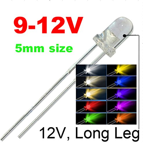 3mm T1 Leds ((5mm)20pcs in each color(total: 200pcs))