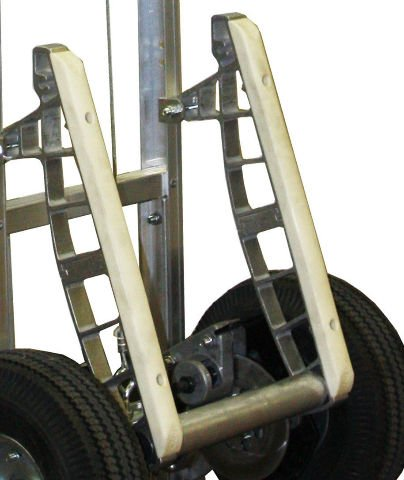 B&P Heavy Duty 18'' Stair Climbers for Aluminum Hand Trucks with Nylon Glides E1L