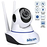 advanced card making - Bitzen IP Wireless Home Security Camera WiFi - Mountable Full Color Motion Detection 1080p Full HD Indoor Dome Surveillance Camera - Night Vision Two Way Audio Video Baby Monitor System