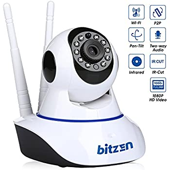 IP Wireless Home Security Camera WiFi – Mountable Full Color Motion Detection 1080p Full HD Indoor Dome Surveillance Camera – Night Vision Two Way Audio Video Baby Monitor System