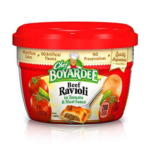 - Chef Boyardee Beef in Tomato & Meat Sauce Ravioli, 7.5 Oz.