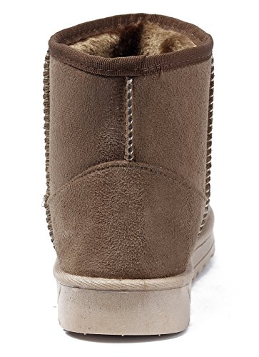 Shoes Outdoor Warm Snow Ankle Toe Women Low Closed Boots AgeeMi Camel Boots Heels RwdvqR