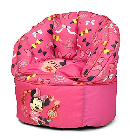 Disney Minnie Mouse Toddler Bean Bag Chair, Purple - Bean Bag Plush Minnie Mouse
