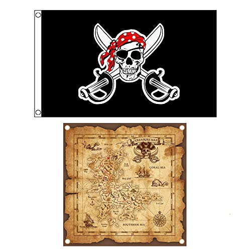 295185 Creative Converting Buried Treasure Party Flag Banner