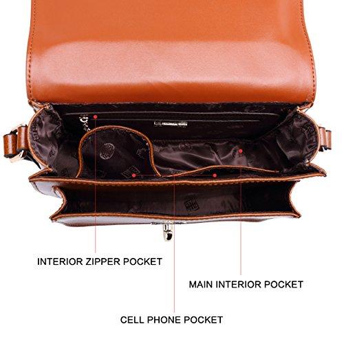 main femmes Messenger pour sac Satchel mignon BOYATU Brown cuir Vintage d'épaule Sacs en à b EwPUYHq