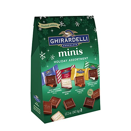 (Ghirardelli Holiday Assorted Mini Squares Bag, 12.2 Ounce)