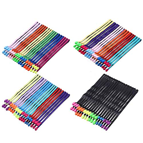 JustBuy Bobby Pins Metal Barrettes18 pcs Per card,4Cards Counted Mixed Colors