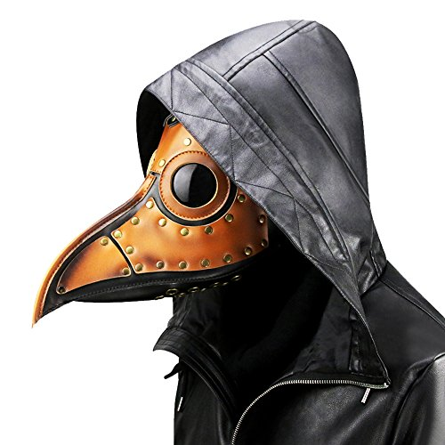 Plague Doctor Kit (Unisex Plague Bird Doctor Nose Cosplay Fancy Gothic Steampunk Retro Rock Mask for Masquerade Party Halloween)