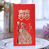 Pack-30 Chinese Red Envelopes - Lucky Money Gift Envelopes Red Packet for New Year, Birthday, Wedding (6.9 x 3.5 Inches)
