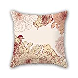 PILLO cushion covers of flower,for teens boys,lover,bf,seat,play room,boy friend 20 x 20 inches / 50 by 50 cm(two sides)